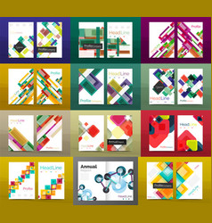 Set of a4 business brochures or annual report vector