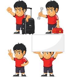 Soccer boy customizable mascot 14 vector