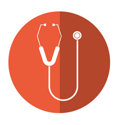 Stethoscope equipment medical shadow vector