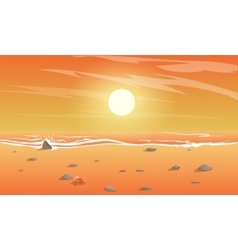view of the beach vector image vector image