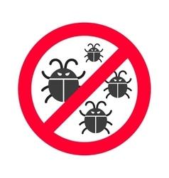 Virus bugs vector image