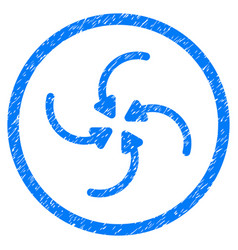 Vortex arrows rounded grainy icon vector