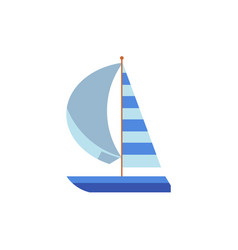 yacht sailing ship boat with a striped sail vector image