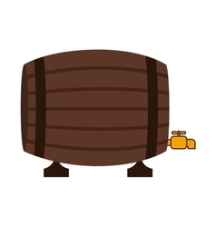 Silhouette colorful with liquor barrel vector