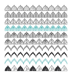 Hand drawn borders design elements pattern brush vector