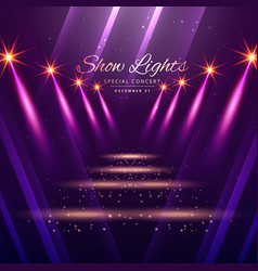 Show lights enterance background vector