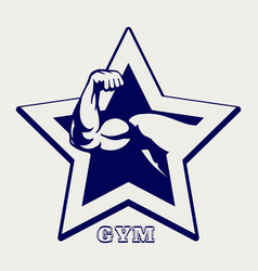 Ballpoint pen gym poster vector
