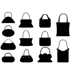 Female purse set vector