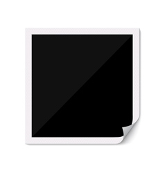 Blank photo frame with curved corner vector