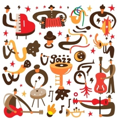 Jazz musicians - cartoons vector
