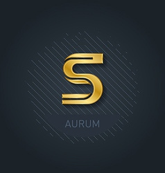 Letter s graphic elegant gold font corporate logo vector