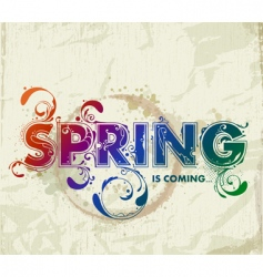 Hand drawn spring lettering vector