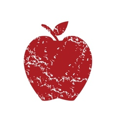 Red grunge apple logo vector