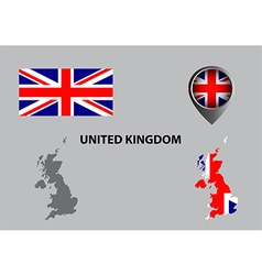 Map of united kingdom and symbol vector