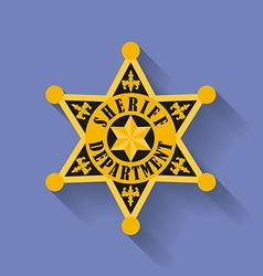 Icon of Police Sheriff badge Flat style vector image
