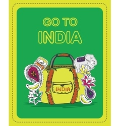 Poster for tourists on the theme of india vector