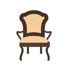 Comfortable chair vector