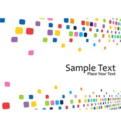 Colorful mosaic design vector