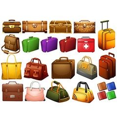Different kind of bags and chests vector