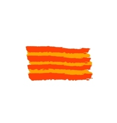 Catalan flag painted by brush hand paints vector