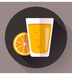 Juice glass flat designed style icon vector