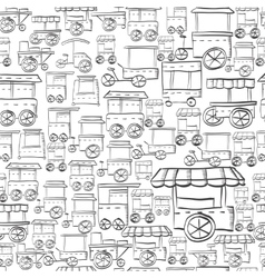 Seamless sketch pattern for street trade vector