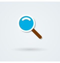Search icon glass lens vector