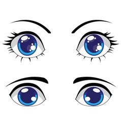 Cute stylized eyes vector