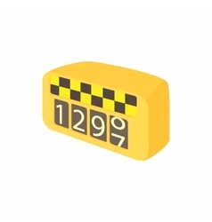 Meter taxi icon in cartoon style vector