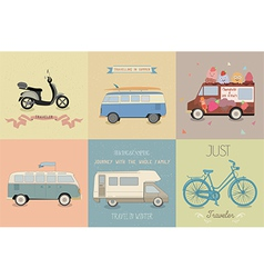 a retro travel vector image vector image