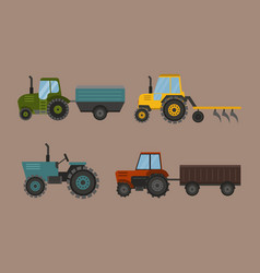 agriculture industrial farm equipment machinery vector image vector image