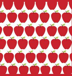 apple fruit pattern background vector image