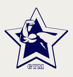 Ballpoint pen gym poster vector