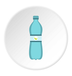 Blue bottle of water icon circle vector