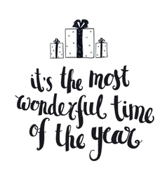 Christmas winter lettering greeting quote vector