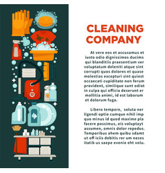 cleaning company promotional poster with text and vector image vector image