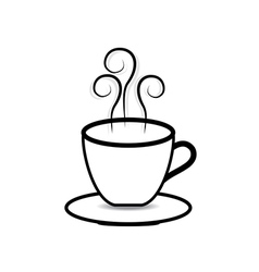 coffee cup on white background vector image