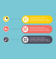 Design business infographic step concept vector