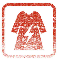 Electric power lady dress framed textured icon vector