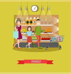 family purchases concept in vector image vector image
