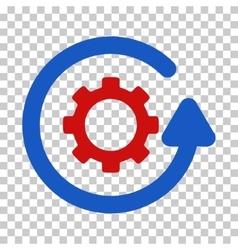 Gearwheel rotation direction icon vector