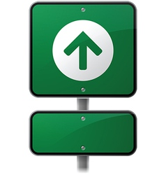 Growth Arrow Sign vector image