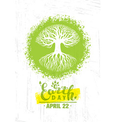 Happy earth day eco sustinble design element vector