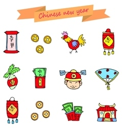 Icon of chinese new year vector