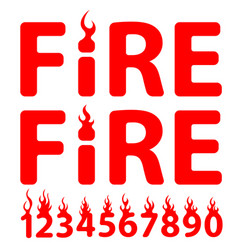 lettering fire vector image vector image