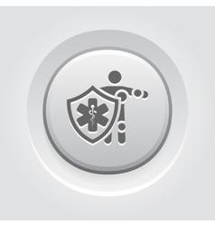 Life insurance icon grey button design vector