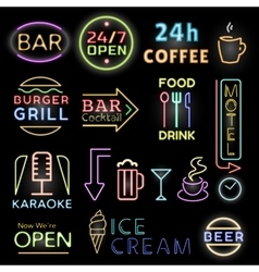 Light neon labels vector image