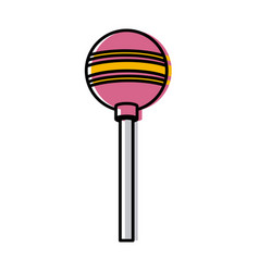 lollipop candy isolated vector image vector image