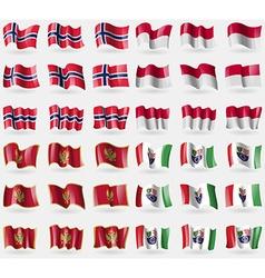 Norway indonesia montenegro bosnia and herzegovina vector