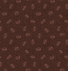 Seamless texture with coffee beans vector